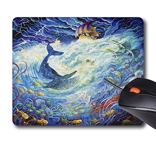 AOFFLY Bill Bell - Jonah And The Whales - Non-Slip Rubber Mousepad Gaming Mouse Pad