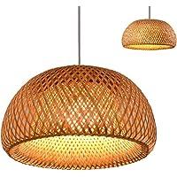 CHEYAL Retro Style Lantern Lámpara Colgante, Pantalla De Bambú, Dormitorio Sala De Estar…