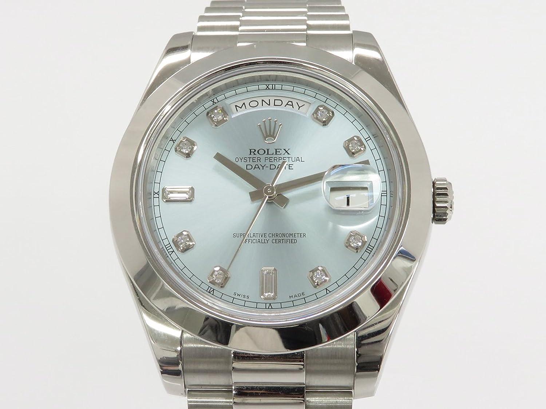 ロレックス ROLEX デイデイト41 218206A アイスブルー文字盤 メンズ 腕時計 中古 B07C98C9K5
