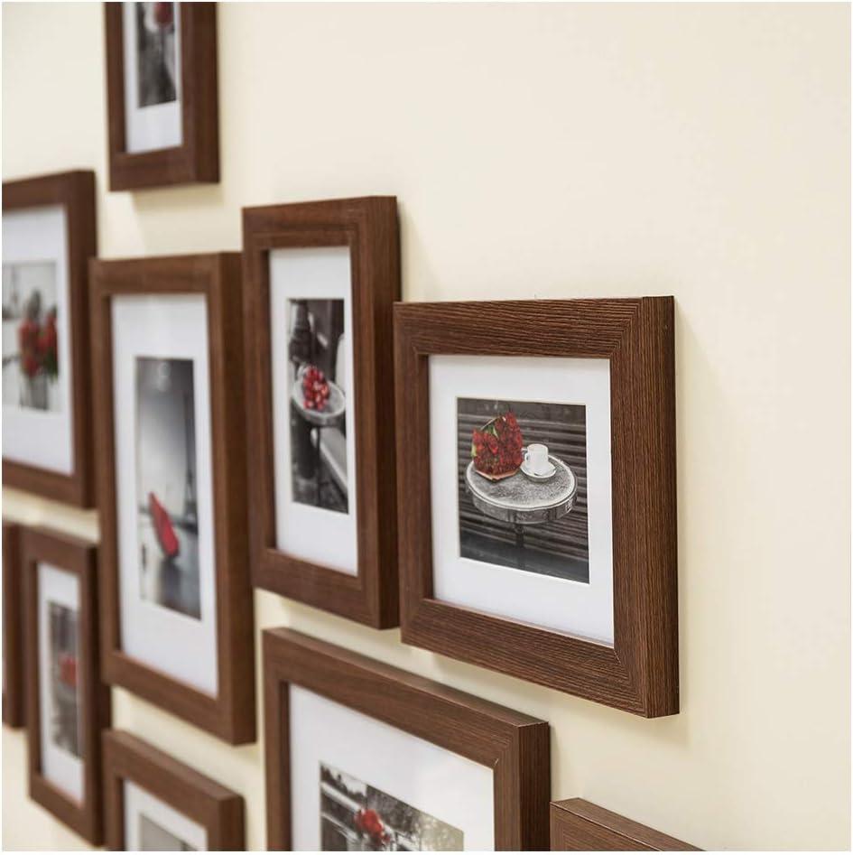 Noir 8 Pcs 13 x 18 cm MDF Muzilife Cadre Photo Mural Lot de 11 Cadres Photo Collages de Images D/écoration pour Maison et Salon 3 Pcs 20 x 25 cm