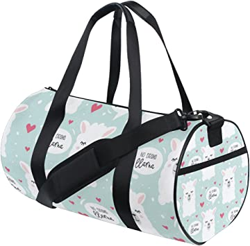Travel Duffels Party Llama Duffle Bag Luggage Sports Gym for Women /& Men