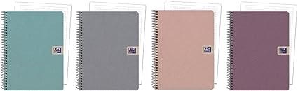 Oxford Nature - Pack de 5 cuadernos microperforados, A5+: Amazon.es: Oficina y papelería