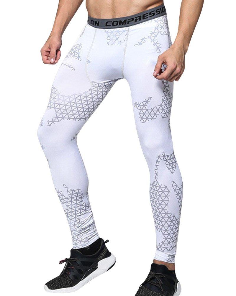 ZhuiKun Pantaloni a Compressione Uomo Sportivi Base Strato Termico Fintess Leggings