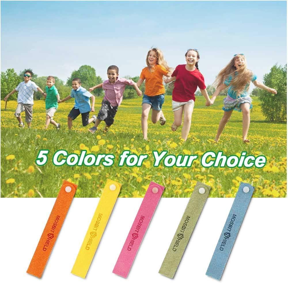 Molbory Lot de 12 bracelets anti-moustiques pour adultes et enfants pour adultes et pour le camping