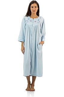 78c6f16408 Casual Nights Women s Zip Up Front Long Fleece Robe House Dress at ...
