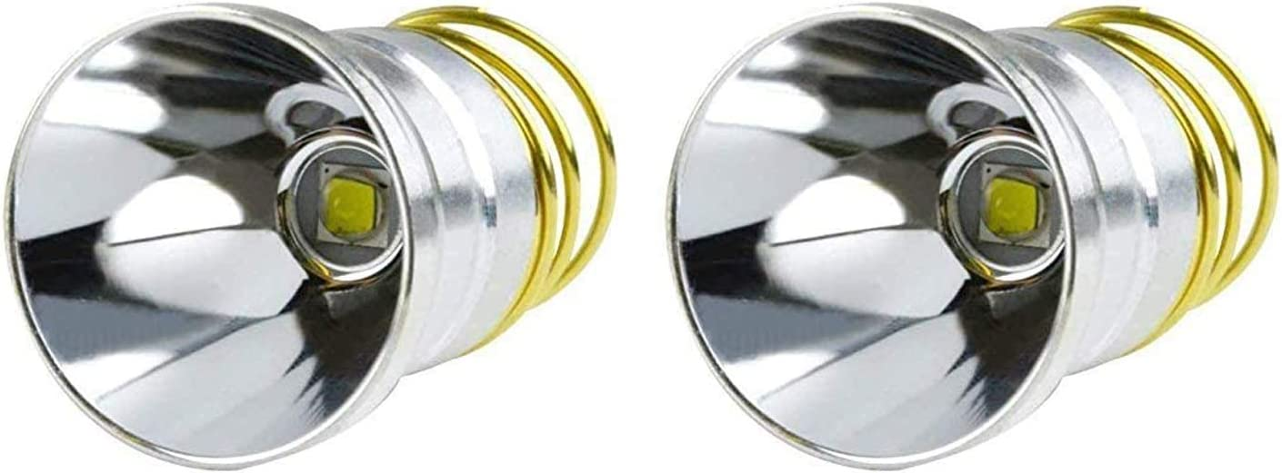 Ultra Bright XM-L2 LED Bulb 1200 Lumens Drop-in P60 Design Module,Single Mode Flashlight Repair Replacement LED Bulb For Surefire Hugsby C2 G2 Z2 6P 9P G3 S3 D2 Ultrafire 501B 502B 2-Pack