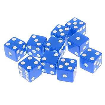 Set de 10 Piezas D6 Dados Digitales para Juegos de Mesa Mazmorras ...