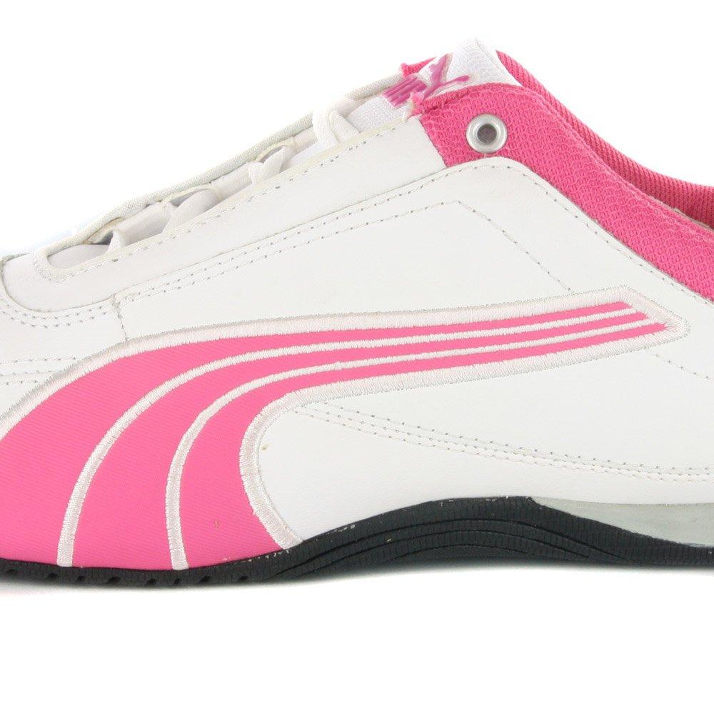 02d8cba3aaa613 Puma Kids Drift Cat White Pink Girls Trainers-White   Pink-7  Amazon.ca   Shoes   Handbags