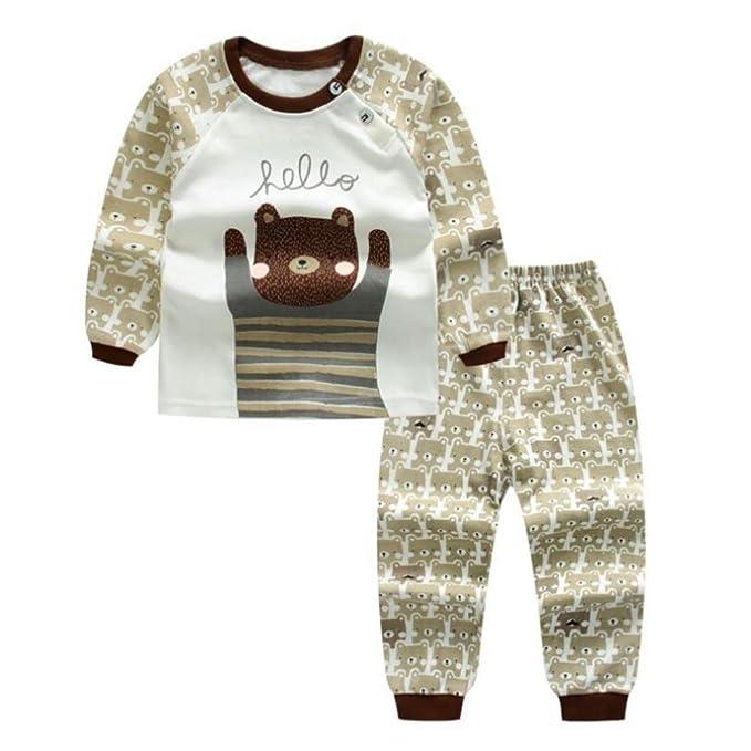 Conjunto de pijamas de bebé recién nacido para niñas, Meedot 2 piezas de algodón de