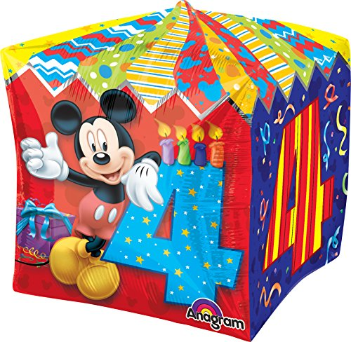 Anagram International Mickey Age 4 Cubez Balloon Pack, 15...