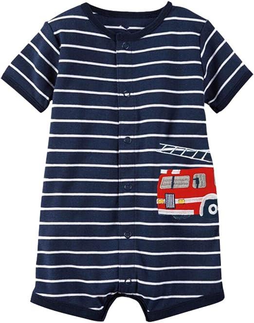 Bebé Pijama Niños Pelele de Algodón Body Manga Corta Verano ...