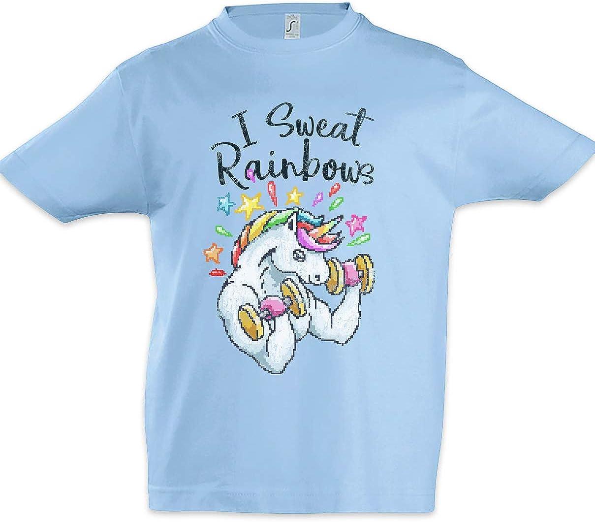 I Sweat Rainbows Kids Boys Children T-Shirt