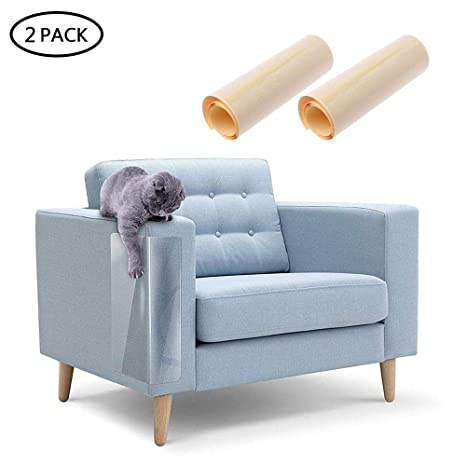 AOLVO Protector de Muebles para Gatos, Protector de Vinilo Flexible Transparente Perro, Gato,