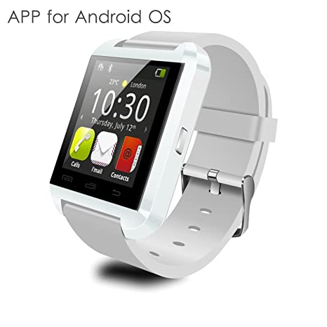 YAMAY reloj pulsera con Bluetooth 4.0, reloj inteligente para fitness, monitor de sueño, podómetro, recordatorio de ...