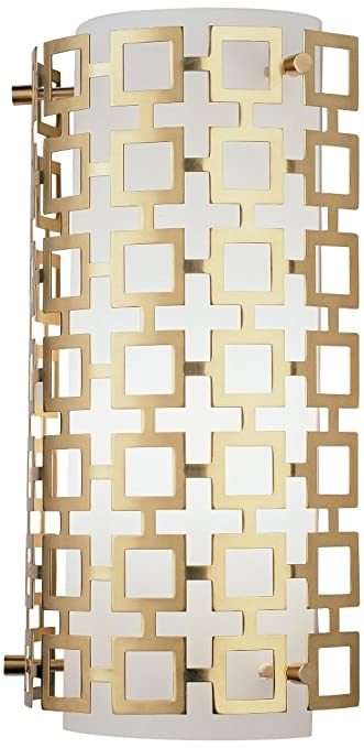 jonathan adler parker wall sconce in antique brass