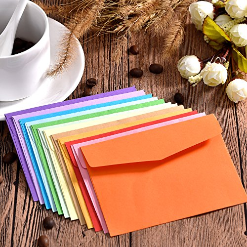 Bememo 60 Pieces Mini Envelopes Multi Color Cute Lovely Envelopes (4.6 x 3.2 Inch) for Gift Card Wedding, Birthday Party Supplies Photo #7