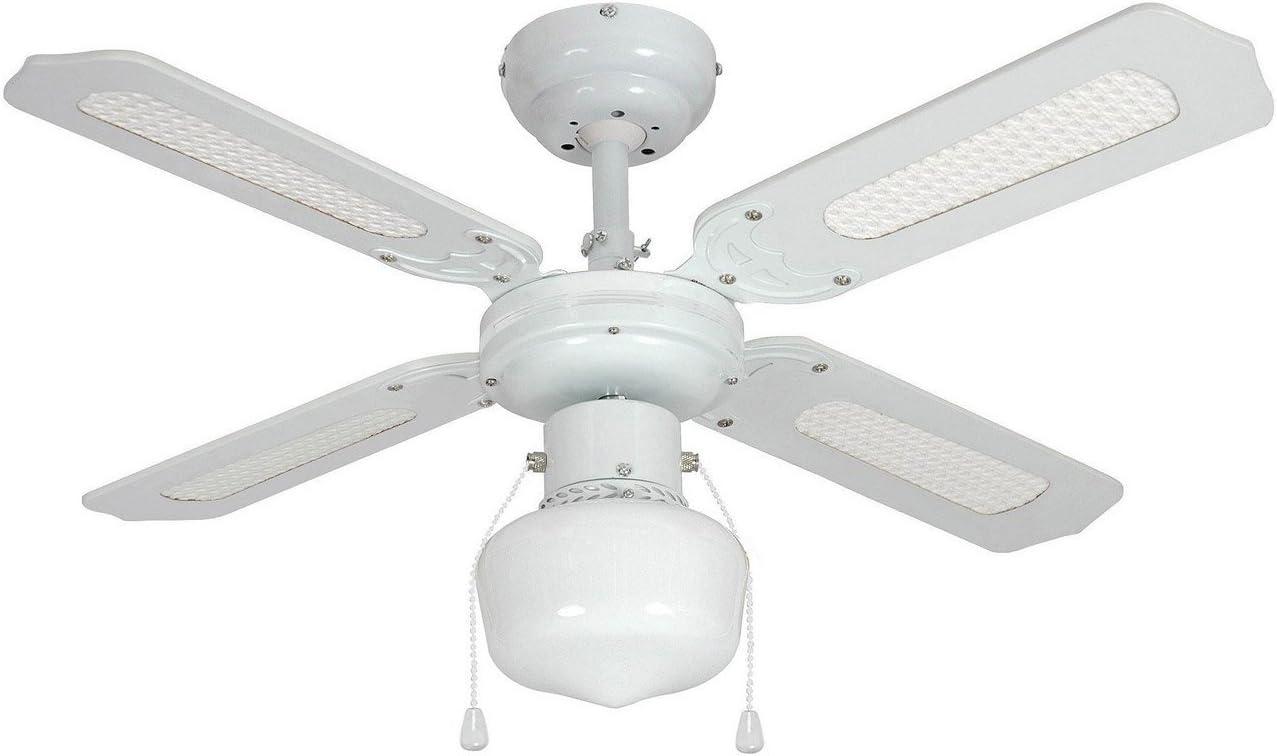 Ventilador techo Barbade E27 4P 91 cm Bco: Amazon.es: Hogar