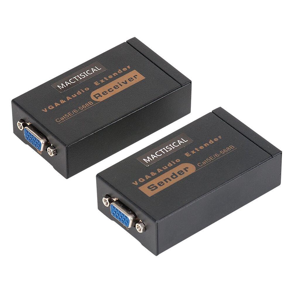 MOERISICAL YCQ VCYCQ100V-sr VGA Extender, 328ft/100m, Sender+Receiver
