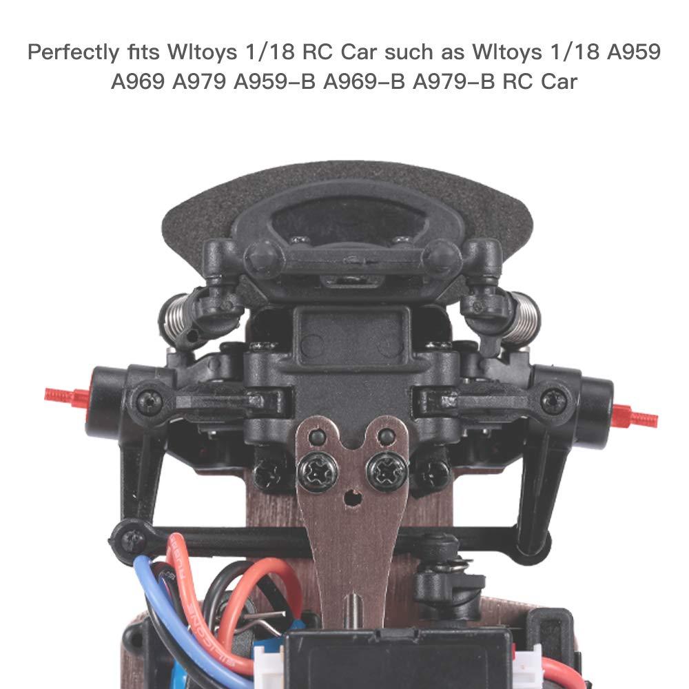 Ajcoflt Para WLtoys K979 K989 K999 2Pcs Metal Drive Shaft Universal Drive Joint para 1//28 RC Car Parts Replacement
