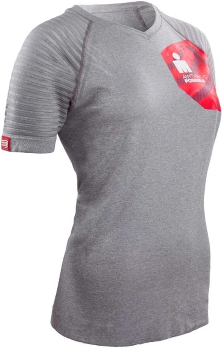 Compressport Camiseta de Entrenamiento Mujer Training Tshirt Ironman 2017 Gris - S: Amazon.es: Deportes y aire libre
