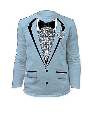 Amazon.com: Impact Original Retro Prom Tuxedo Light Blue Long Sleeve ...