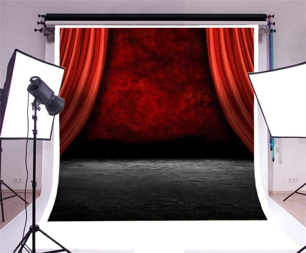 YongFoto 3x3m Vinyl Toile de Fond Tapis Rouge Rideau de Velours pr/ésenter pr/ésenter sc/ène de th/é/âtre Fond D/écors Studio Photo Portrait Enfant Video Fete Mariage Photobooth Photographie Accesorios
