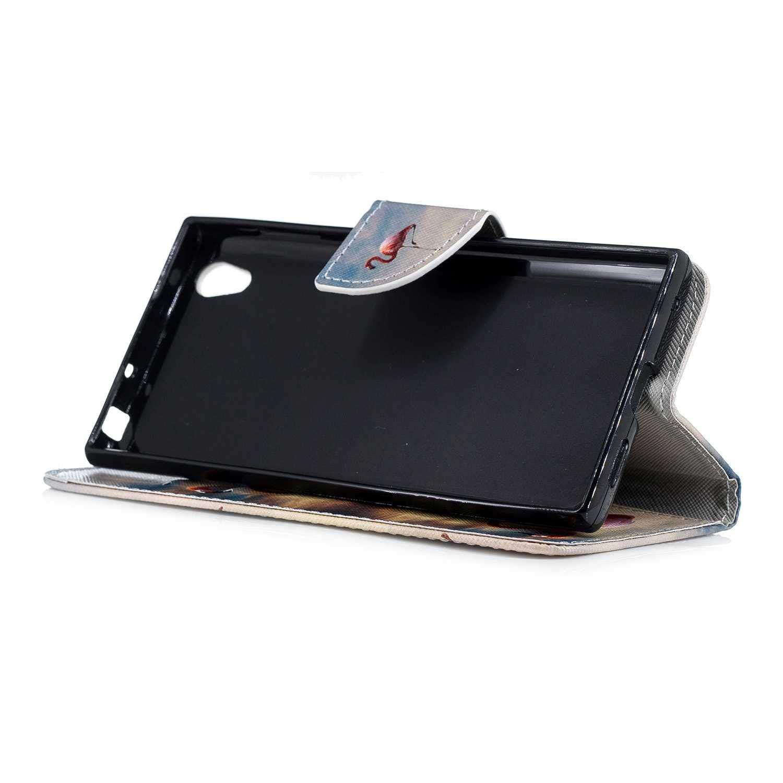 DENDICO Funda Sony Xperia L1 Funda Libro Cubierta Protecc/íon de Cuero con Cierre Magn/ético Billetera Slim Folio Carcasas para Sony Xperia L1 Hoja de Colores