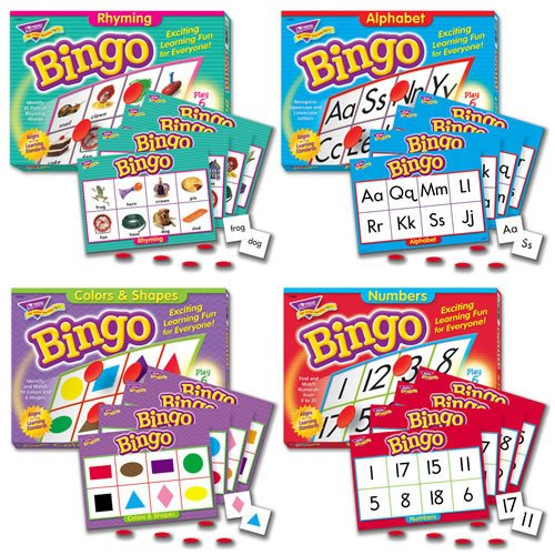 None Bingo Games Set of 4
