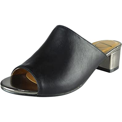 cc8755b1b Women Mule Sandals | Low Block Heel | Summer Sandal | Low Block Heel Shoes  | Peep Toe Block Heel Sandals | Slip on Flats Women | Peep Toe Block Heel  Sandals