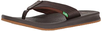 Sanuk Brumeister Primo Sandals, Dark Brown, 47 EU