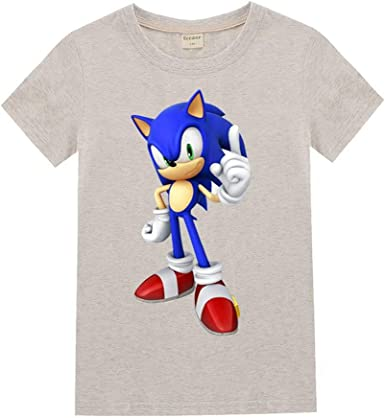 Sonic the Hedgehog Print Kids Short Sleeve T-shirt Summer Casual Tops Boys Gifts
