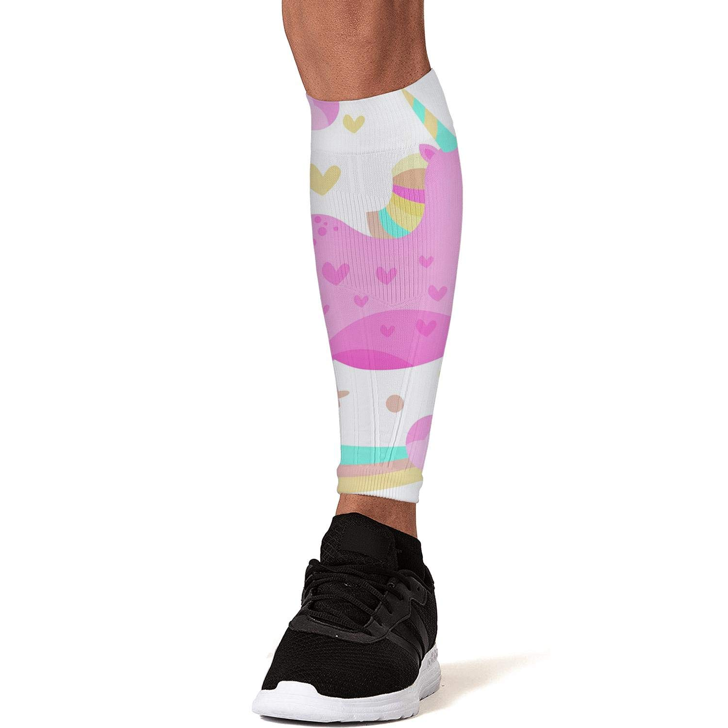 Smilelolly rainbow Calf Compression Sleeves Helps Calf Guard Leg Sleeves for Men Women