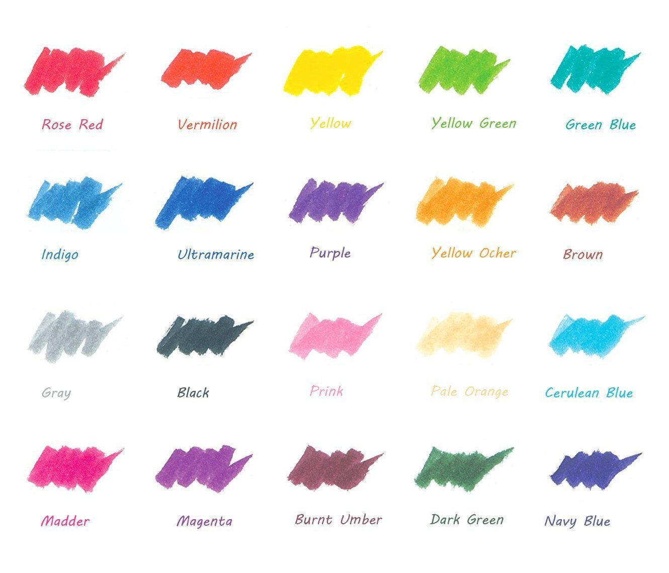 Manga Comic Calligraphy Watercolor Paints Soft Flexible Tip for Adult Coloring Books Watercolor Brush Pens Ohuhu 20 Colors Water Color Painting Markers W// A Water Coloring Brush