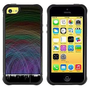 iKiki Tech / Estuche rígido - Music Sound Waves Vibe Dance Love Party - Apple iPhone 5C