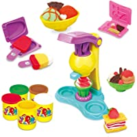 Toyshine DIY Ice Cream Clay Play Set Toy, Make Fancy Clay Ice Cream with Clay, Real Clay Vending Machine, Clay Tubs, Non Toxic
