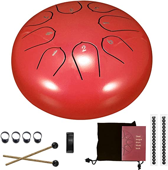 "Tasche 8/"" 8 Töne Handpan Hand Drum Pan Yoga Buddha Tankdrum Trommel"