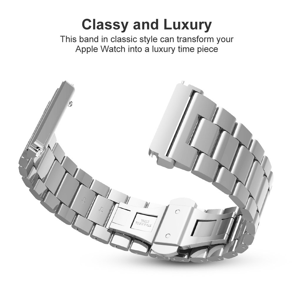 for Fitbit Versa Graphite Scratch Resistant Case Included Slim Stainless Steel Band Low Profile Metal Strap with Butterfly Clasp UMTELE For Fitbit Versa Band