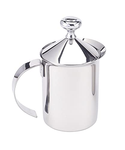 HIC-Milk-Creamer-Frother-Cappuccino-Coffee-Foam-Pitcher-with-Handle-and-Lid,-Stainless-Steel