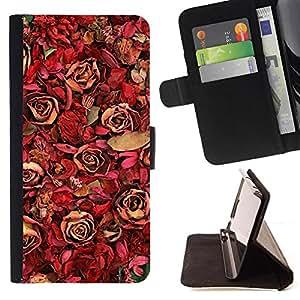 Kingstore / - Agrupados Rosas Rojas Y Sun Flores - Samsung Galaxy S4 Mini i9190