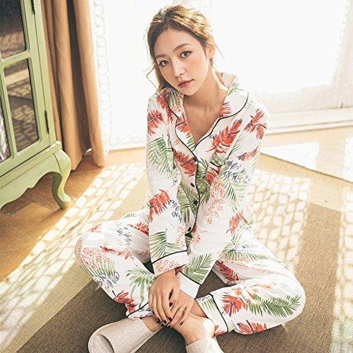 Pajamas Cotone Da Dimensioni Con In M Di Aluk Ginnastica Set colore Risvolto Shown Women Shown Dolce As Pigiama Nordico dqSgdw