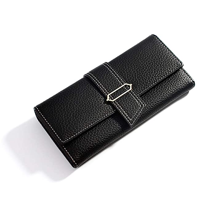 Amazon.com: Bolso de mano largo de piel para mujer ...