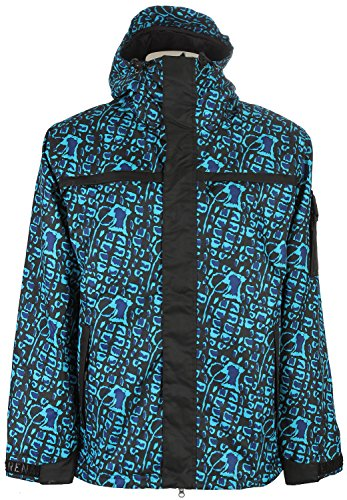 Grenade Animal House Snowboard Jacket Aqua Sz L (The House Snowboard Jackets)