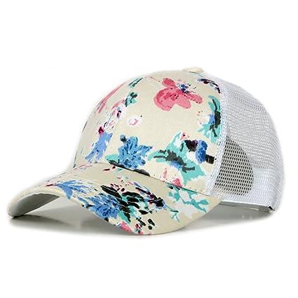TREESTAR - Gorra de béisbol con diseño de Flores pintadas de Verano ... 9426d5bc442