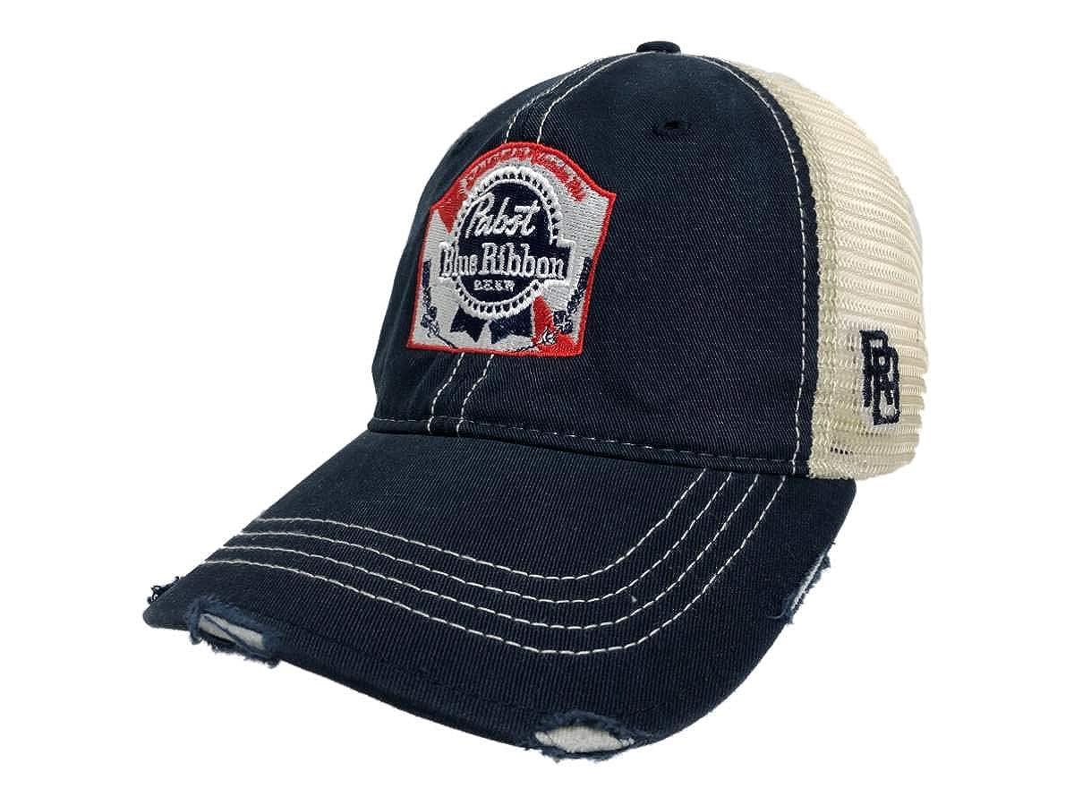 0f267782794787 Amazon.com: Pabst Blue Ribbon PBR Brewing Company Retro Brand Vintage Mesh  Beer Adj Hat Cap: Clothing
