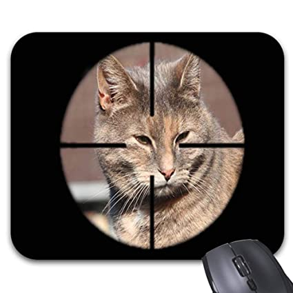 195110115ed7b Amazon.com : Cat Target Aim Print Mouse Pad Stylish Office Computer  Accessory -9.86 X 7.68in : Office Products