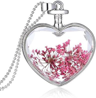 glass flower heart Heart bead glass heart,purple flower heart bead