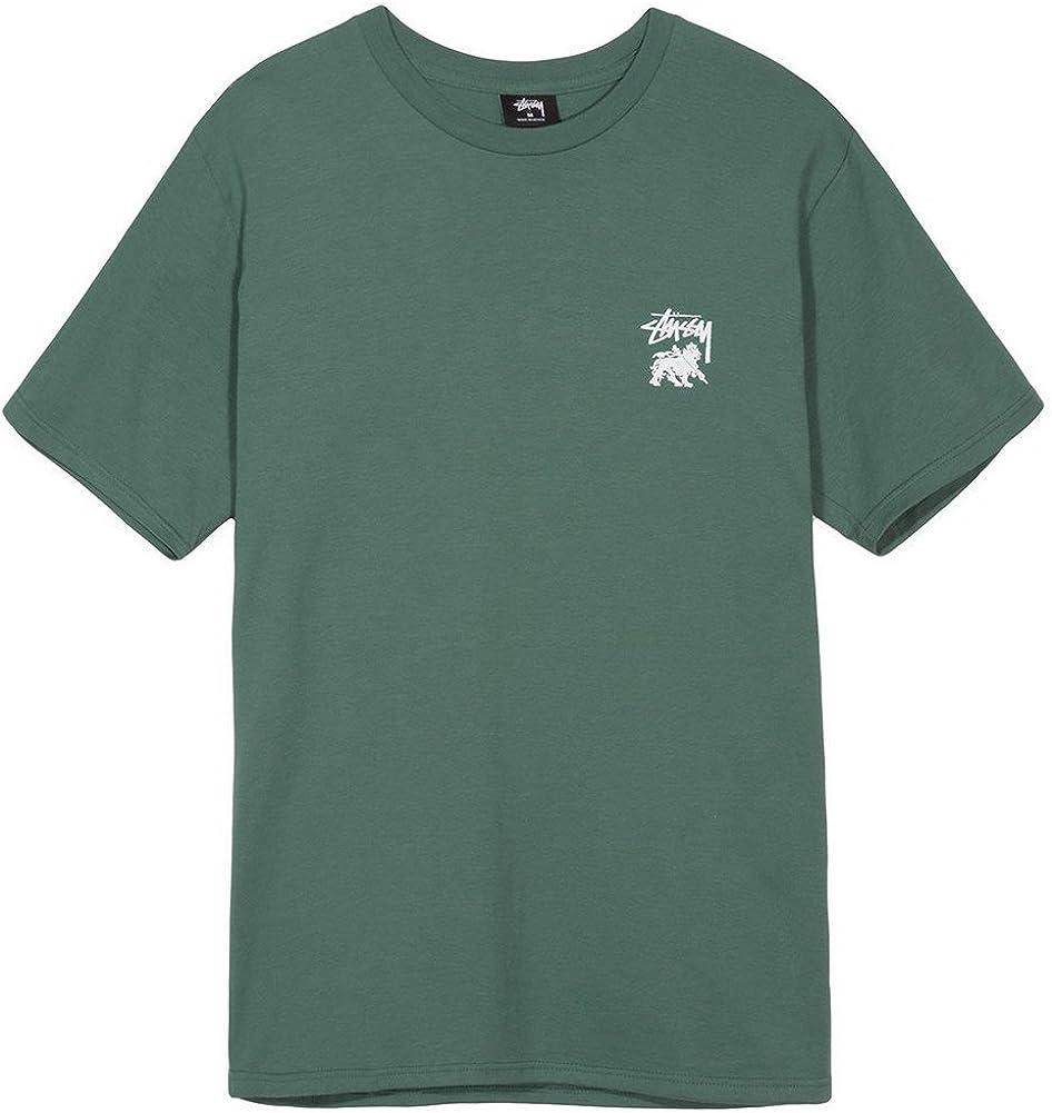 Stussy Camiseta Lion Shield Verde Talla: S (Small): Amazon.es: Ropa y accesorios