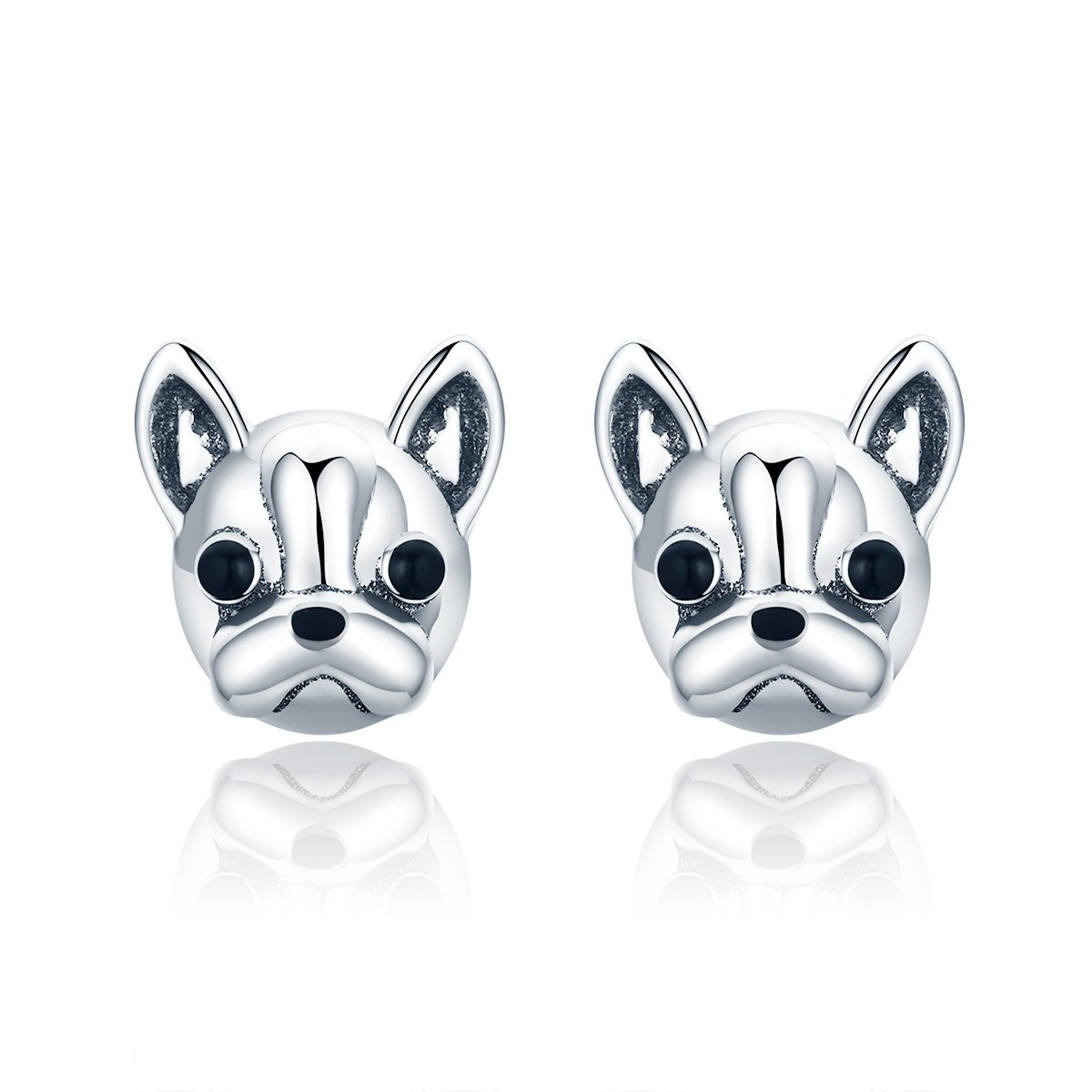 French Bulldog Stud Earrings Sterling Silver Stud Earrings for Girls Christmas Day Gift By Presentski HE01-6