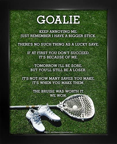 """Posters and Prints by Magnetic Impressions Unframed Lacrosse Goalie 8/"""" x 10/"""" Sport Poster Print"""