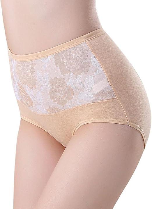 GillBerry Bragas Mujer Cintura Alta Algodón Bragas sanas Ropa Interior (XL, Piel): Amazon.es: Ropa y accesorios